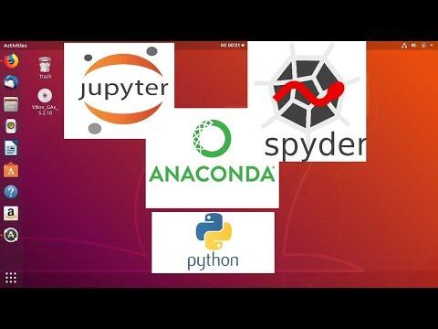 Install Anaconda Python, Jupyter Notebook, Spyder on Ubuntu
