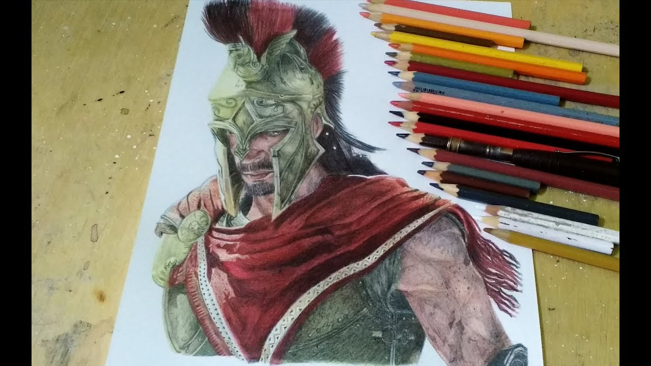 Drawing Alexios Assassin S Creed Odyssey Youtube