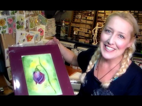 How to display and package watercolor paintings for sale