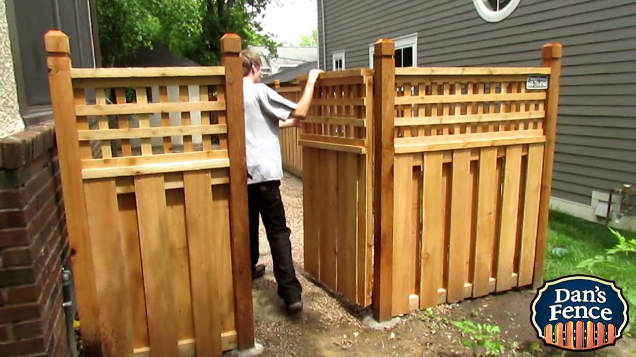 Lattice Cedar Gate Youtube