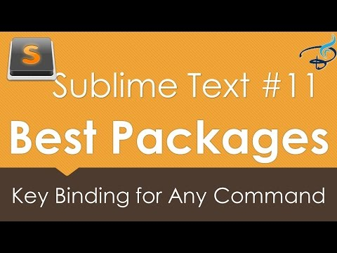 Sublime Text 3 - Best Packages #11 | Key Binding for any Command