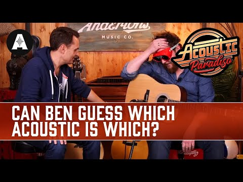 Ben's First Ever Blindfold Challenge! Does He Know His Acoustic Guitars?