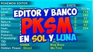 EDITOR y BANCO de POKÉMON en 3DS para SOL y LUNA PKSM es EL PUTO FUTURO