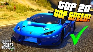 GTA 5: TOP 20 DER SCHNELLSTEN SUPERSPORTWAGEN! | GTA 5 SCHNELLSTES AUTO!