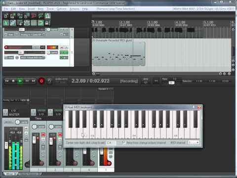 Reaper для начинающих | Миди клавиатура (часть 6)