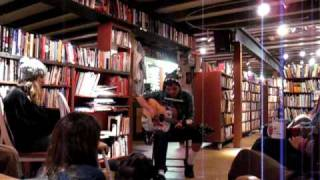 Aaron Oropeza performs live at The October Country celebration at Truckee Book & Bean