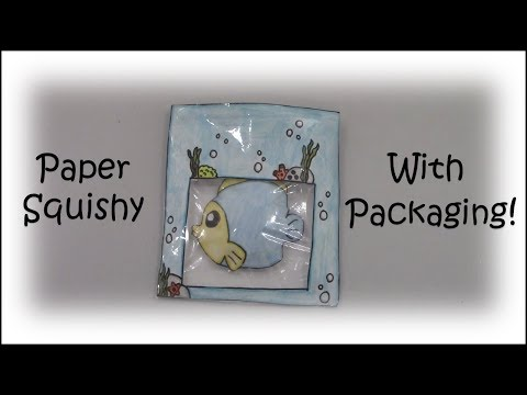 DIY Fish Paper Squishy With Packaging Tutorial