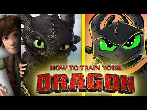 How to Train Your Dragon Toothless Speedpaint Hiccup Impression!