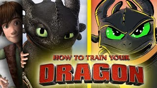 How to Train Your Dragon Toothless Speedpaint (Hiccup Impression!)