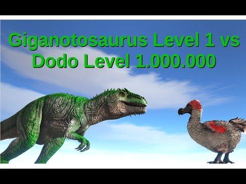 Giga (lvl 1) vs Dodo (lvl 1.000.000) || ARK: Survival Evolved || Cantex