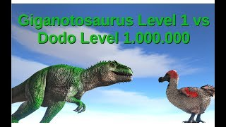 Giga (lvl 1) vs Dodo (lvl 1.000.000) || ARK: Survival Evolved || Cantex