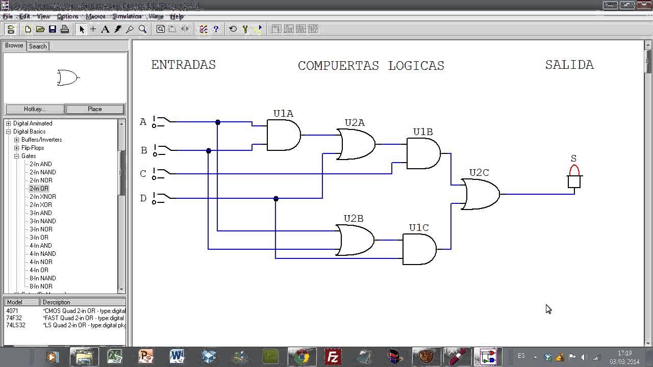 Circuito Nand : Introducción al circuit maker aplicado en circuitos logicos youtube