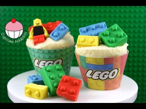LEGO Cupcakes! How to Make Edible Lego for your Cakes and Cupcakes ...
