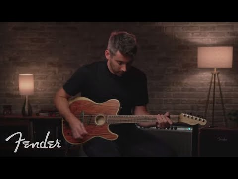 Nathaniel Murphy Plays The American Acoustasonic Telecaster Cocobolo   Fender