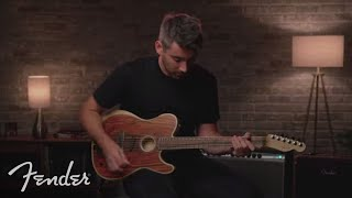 Nathaniel Murphy Plays The American Acoustasonic Telecaster Cocobolo | Fender