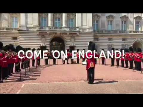 Queen Elizabeth Supports England's World Cup Dreams! Guards Play 'Three Lions - It's Coming Home'