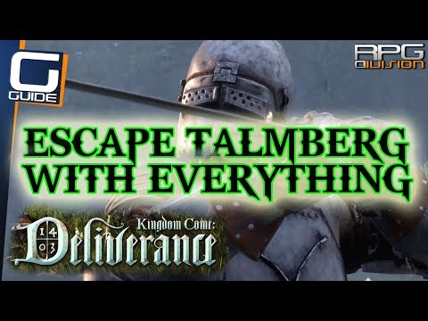 KINGDOM COME DELIVERANCE - How to get First Armor Set, Weapon, Horse and Escape Talmberg Castle