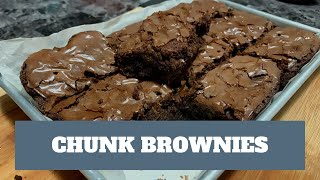 How to make CHUNK BROWNIES from boxed mix - Betty Crocker