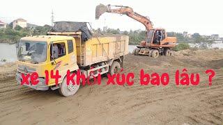 Thử thách máy xúc doosan 140 WACE xúc đất lên xe hoàng huy 14 khối ,Nghia Plaza TV