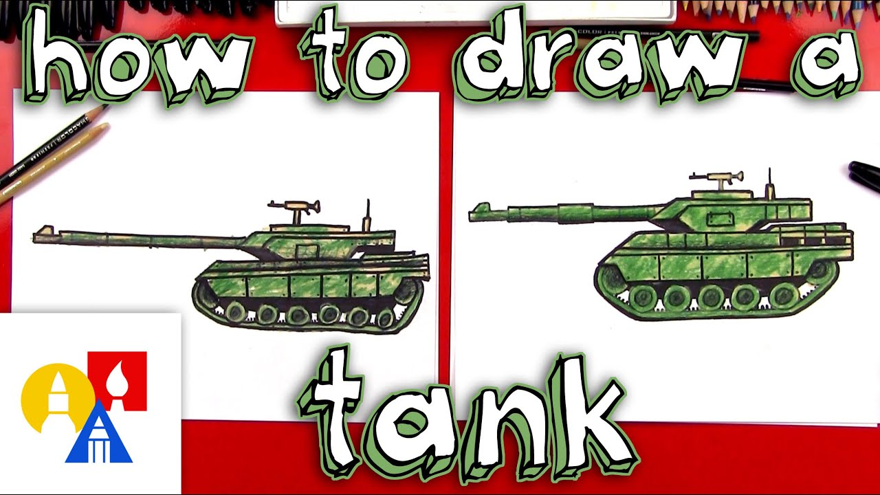 how to draw a realistic tank [ 1280 x 720 Pixel ]