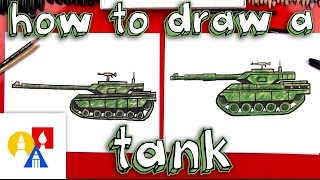 How To Draw A Realistic Tank