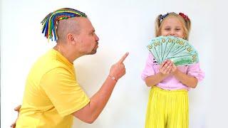 Алиса хочет новый батут для папы на его День рождения