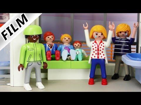 Playmobil Film deutsch   ÜBERVORSICHTIGE Eltern   Sind Julian, Hannah & Emma sehr krank? Kinderserie