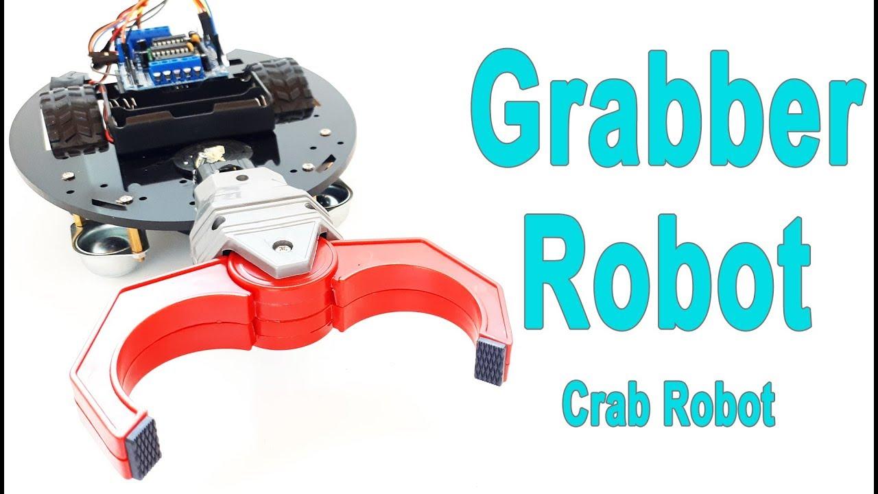 Grabber (Crab) Robot - Arduino | Bluetooth | Remote Control via ...