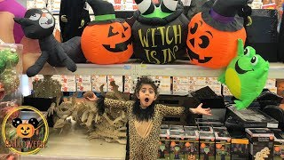 Sally shopping at the Halloween Store with Mommy!! kids fun