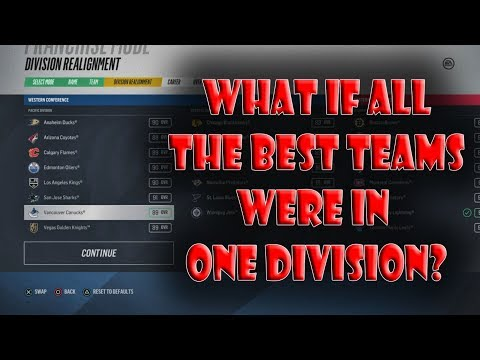 What IF ALL The BEST Teams Were in ONE Division? NHL 18