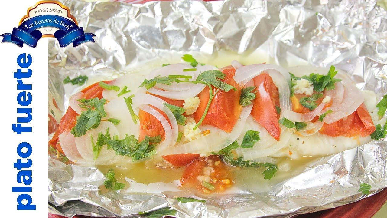 Recetas de pescado huachinango empapelado