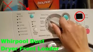 ✅  How To Use Whirlpool Duet Dryer Front Loader Review