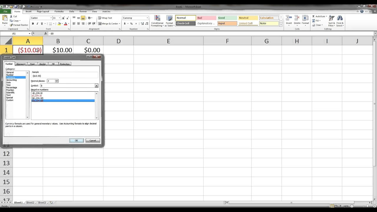 How to make an excel column negative - Mat142 Negative Numbers In Excel