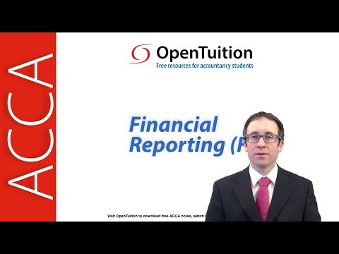 Introduction to the ACCA Financial Reporting (FR)