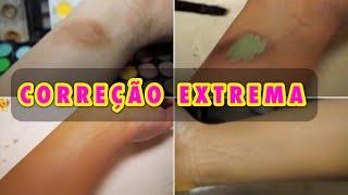 Como corrigir olheiras profundas, vitiligo e manchas com Maquiagem? | MasterClass no Youtube 3