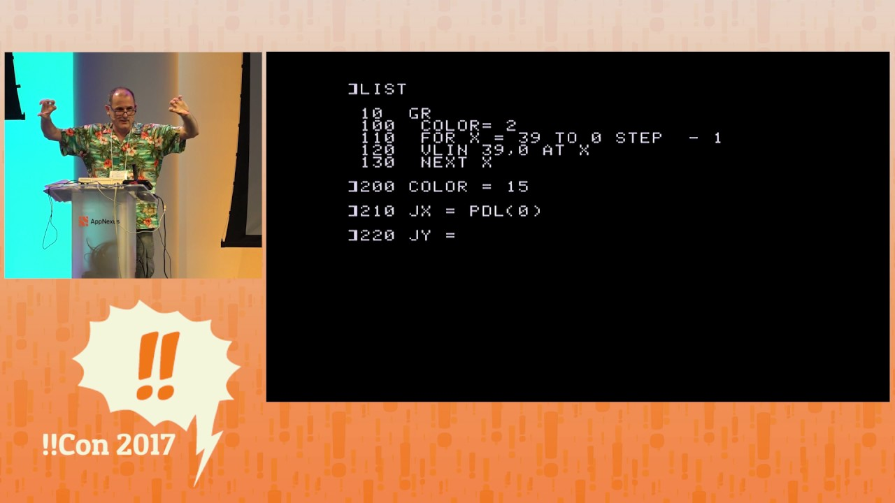 !!Con 2017: BEEP!! See AppleSoft BASIC and 6502 assembly language written  on an actual Apple IIc