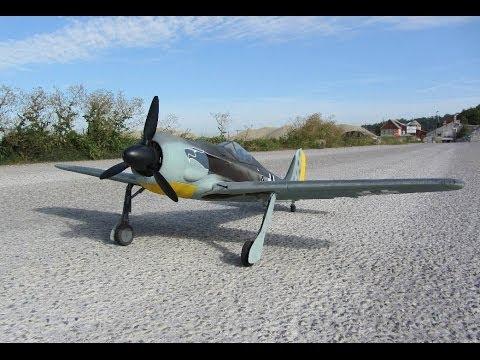 Modellflugzeug Focke Wulf FW 190 (Flug #1)