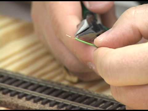 How to build a model railroad Installing feeder wires on model