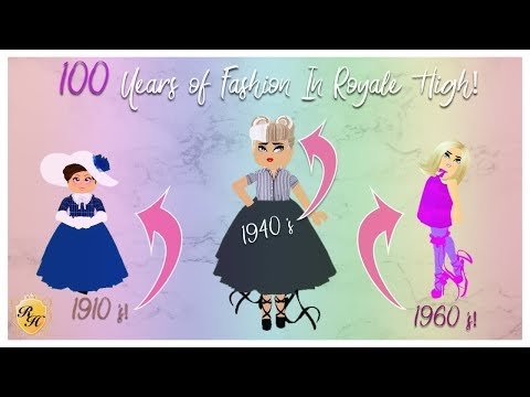 100 Years Of Fashion In Royale High Recreating Outfits From Different Decades Youtube