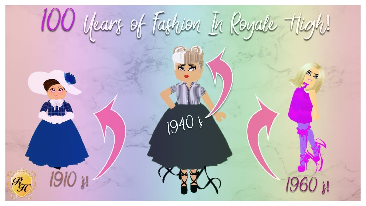 7 Years of Fashion in Royale High! Recreating Outfits from Different  Decades!