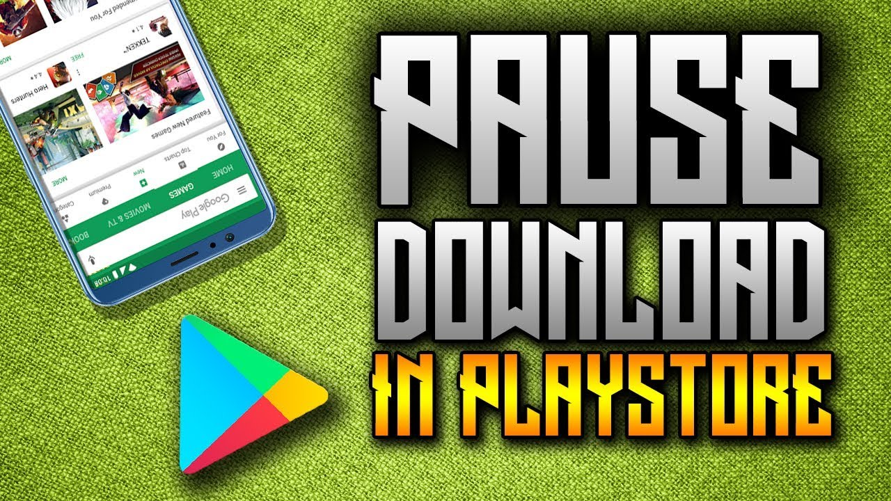 How to pause download in playstore without disconnecting to WiFi/cellular  data