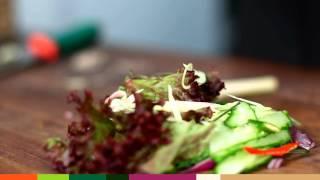 Салат из мраморной говядины по-тайски