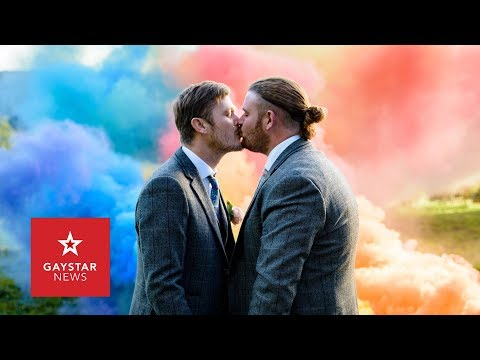 Gay Wedding Photoshoot By Cute Couple Is Beautiful – Taking Wedding Photos To A Whole New Level