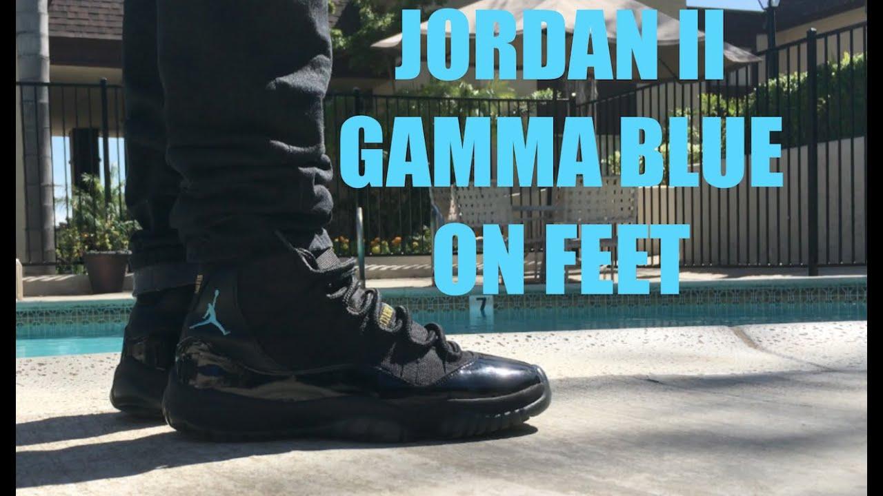 low priced df6bb dc735 Gamma Blue Air Jordan 11 | On feet Review