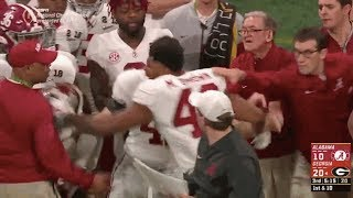 Alabama LB Mekhi Brown Swings on His OWN Coach After Punching Georgia Player