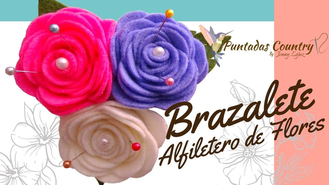 Manualidades f ciles flores en fieltro alfiletero youtube - Plantillas para manualidades de fieltro navidad ...