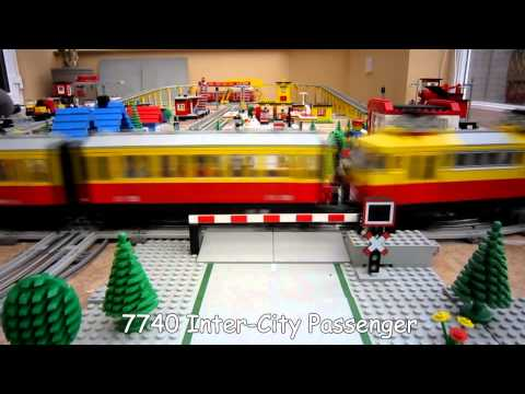 Lego Town Trains - 12v Lego Train Layout from 1980