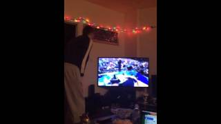Guy's ecstatic reaction to Villanova's NCAA basketball game winning shot 2016