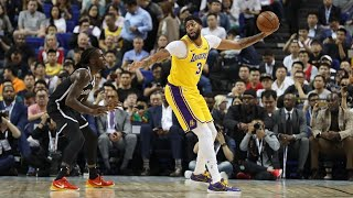 Lakers Fall to The Nets for the Second time in China Lose A.D