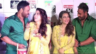 Kajol Showing LOVE & AFFECTION For Husband Ajay Devgan & Doing MASTI With Him In Public